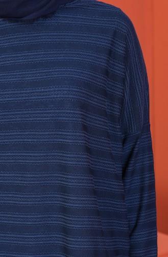 Tunique a Motifs 1117-01 Bleu Marine 1117-01