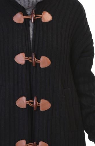 Tricot Long Cardigan Black 35967-01