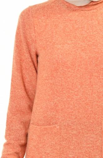Trikot Tunika mit Tasche 10320-01 Orange 10320-01