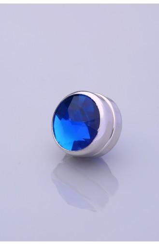 Aimant D écharpe Bleu Roi Argent 06-0102-32-10-T 06-0102-32-10-T