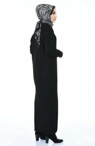 Tricot Long Cardigan Black 1914-06