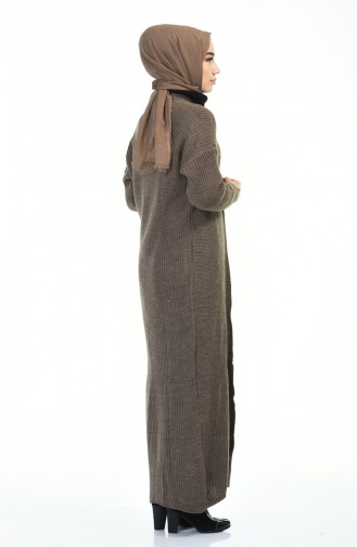 كادريجان تريكو طويل بني مائل للرمادي داكن 1914-10