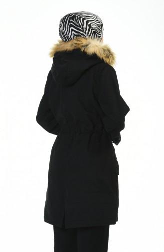 Schwarz Mantel 9016-03