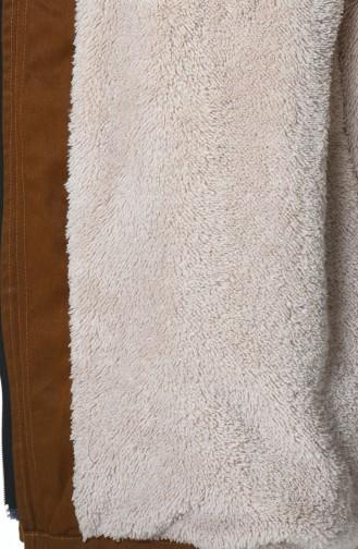 معطف طويل أخضر تبغ 9016-06