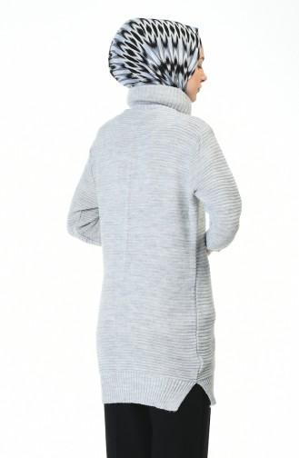 Strick Rollkragenpullover  5003-02 Grau 5003-02