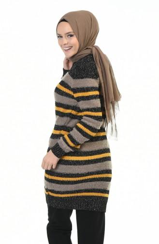 Tricot Silvery Sweater Mink Black 8039-01