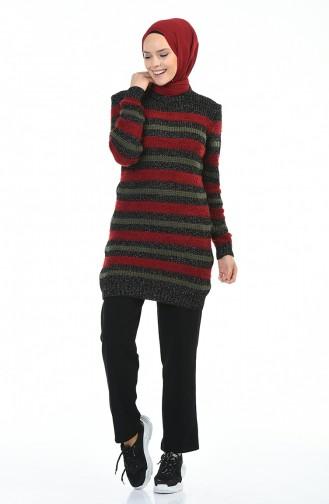 Tricot Silvery Sweater Black Bordeaux 8039-04