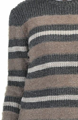 Tricot Silvery Sweater Gray Mink 8039-07