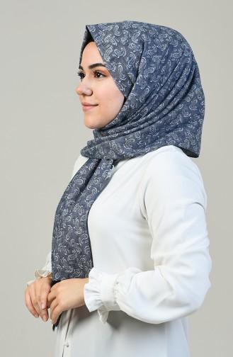 شال قطني منسوج كحلي 99252-01