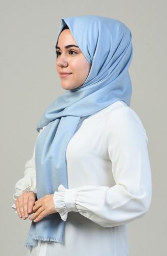 شال قطني سادة أزرق فاتح 99256-01