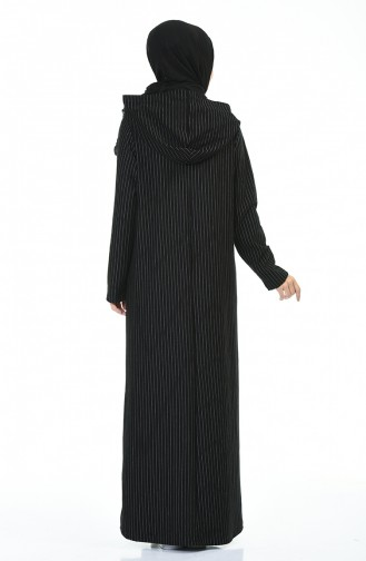 Striped Sports Dress Black 0014-01