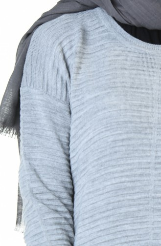 Tricot Long Tunic Gray 1356-03
