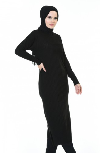 Tricot Long Tunic Black 1356-04