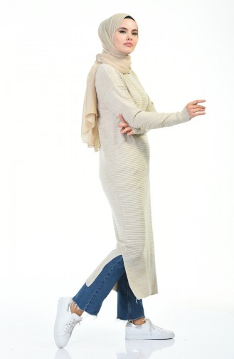Tricot Long Tunic Stone Color 1356-05