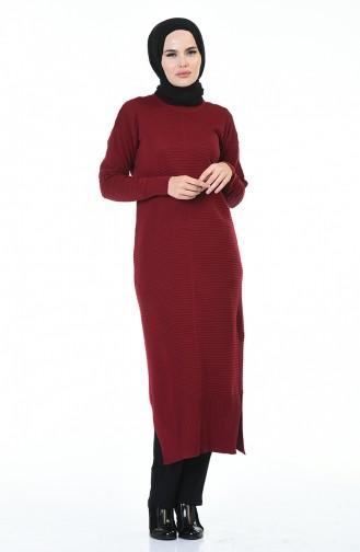 Triko Uzun Tunik 1356-06 Bordo 1356-06