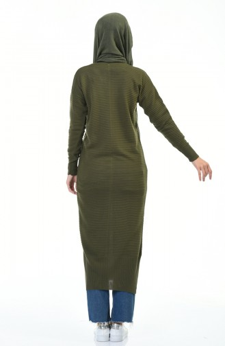 Tricot Long Tunic Khaki 1356-07