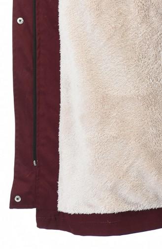 معطف طويل أحمر كلاريت 9015-05