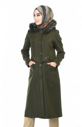 معطف طويل كاكي 9017-05