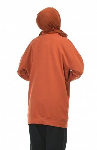 Sweatshirt Couleur brique 0773-04