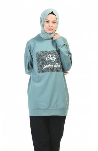 Sweatshirt Vert noisette 0773-05
