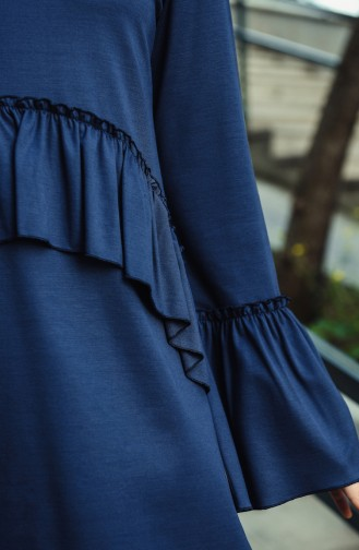 Tunic Trousers Double Set Navy Blue 8053-01