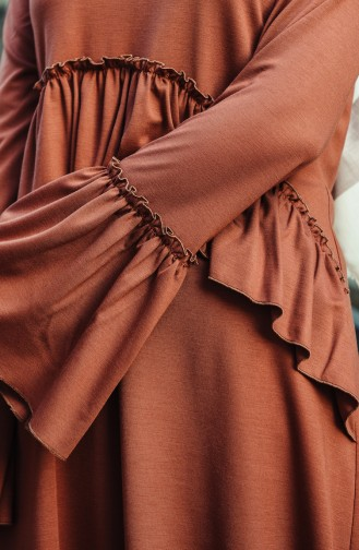 Tunic Trousers Double Set Brown 8053-03