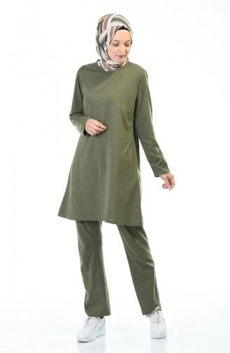 Tunik Pantolon İkili Takım 1012-03 Haki 1012-03