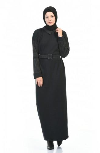 فستان أسود فاتح 0333-03