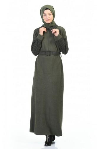 Khaki İslamitische Jurk 0333-04