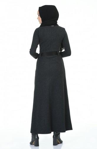 Robe Hivernale Avec Ceinture 5369D-01 Fumé 5369D-01