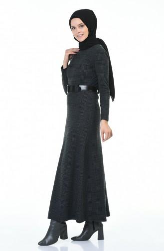فستان شتوي بحزام دخاني 5369F-01