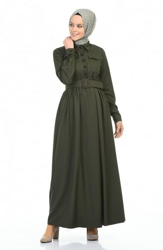 فستان كاكي 4033-02