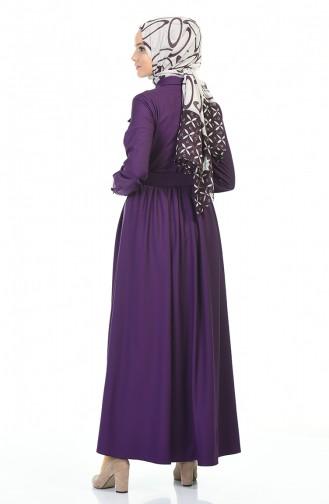Robe Hijab Pourpre 4033-03