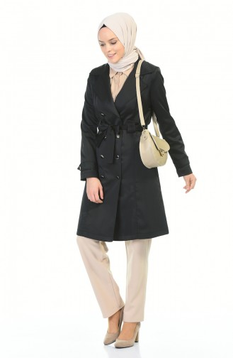 Trench Coat Noir 6612-01