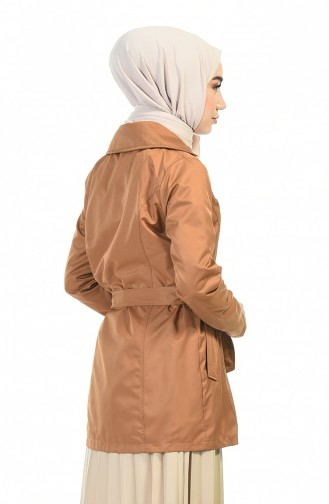 Tobacco Brown Trench Coats Models 1015-01