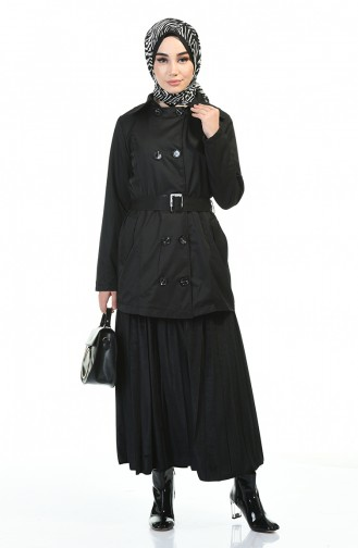 Schwarz Trench Coats Models 1015-03