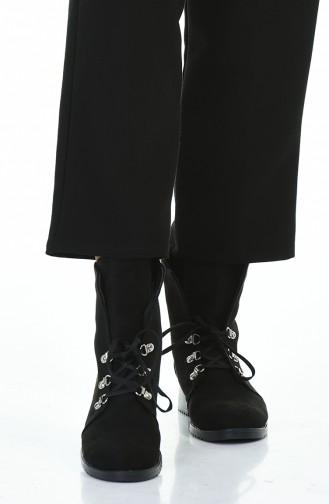 بوط نسائي أسود شامواه 415K-01