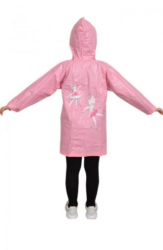 Kız Çocuk Yağmurluk 1001-01 Pembe