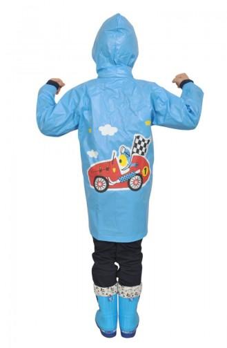Jungen Regenmantel 1002-01 Blau 1002-01