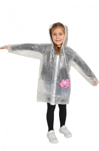 معطف واق من المطر وردي 1003-01
