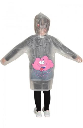 Mädchen Regenmantel 1003-01 Transparentes Pink 1003-01