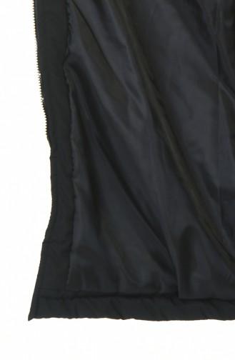 Fermuarlı Kapitone Mont 5908-01 Siyah