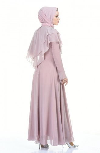 Pearl Evening Dress Rose Dried 6170-01