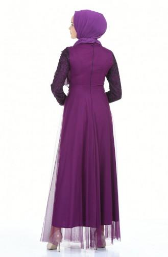 Purple İslamitische Avondjurk 5218-01