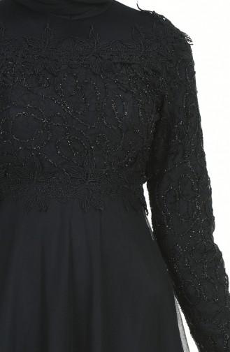 Black Islamic Clothing Evening Dress 5218-02