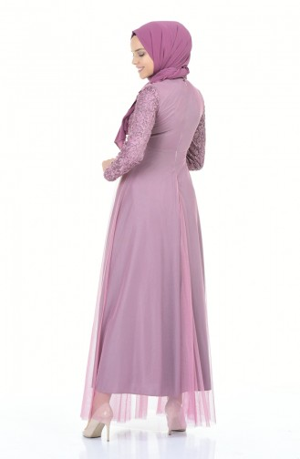 Beige-Rose Hijab-Abendkleider 5218-04