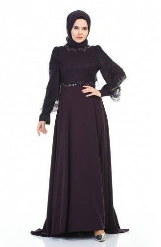 Lila Hijab-Abendkleider 7028-02