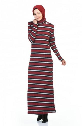 Robe Hijab Bordeaux 0332-03