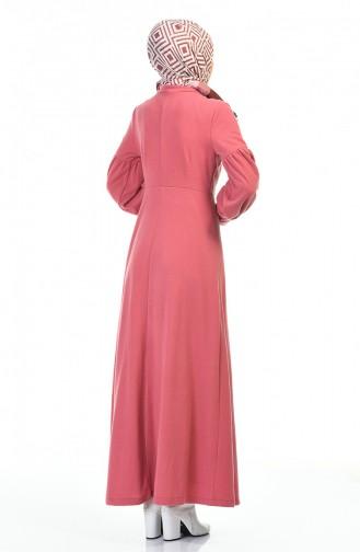 فستان زهري باهت 0334-05