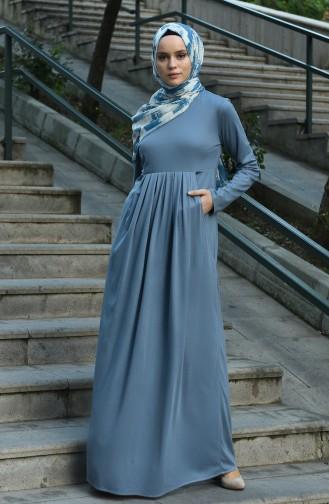 فستان نيلي 8058-02